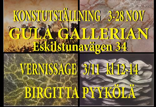 Birgitta Pyykölä ställer ut på Gula Gallerian