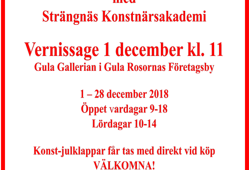 Julklappsutställning Gula Gallerian