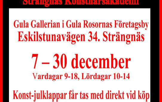 Strängnäs konstnärsakademis julutställning